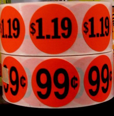 "5000 ANY PRICE POINT RETAIL LABEL STICKER 1 1/2"" Circle"