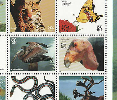 3105   32c    ENDANGERED SPECIES   SHEET OF 15   SPECIAL M SALE AT FACE