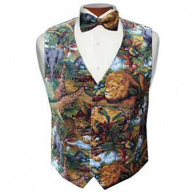 King of the Jungle Lion Tuxedo Vest and Bowtie