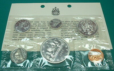 CANADA 1965  PROOF-LIKE SET (SILVER) type I  *6 COINS*