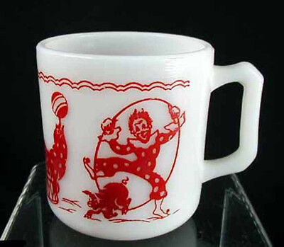 Hazel Atlas Circus Clowns Child's Mug - FREE SHIPPING!