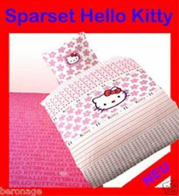 Sparset Hello Kitty Spannbettlaken + Bettwäsche Bundle`