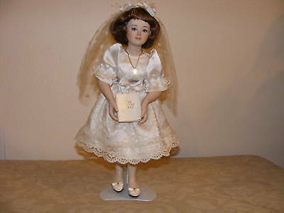 Wedding Bridal Porcelain Doll 1993 by T C  Bride