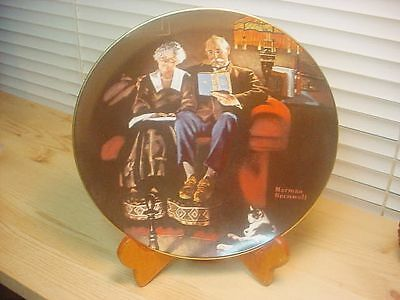 Collector Plate Knowles Norman Rockwell EVENING'S EASE