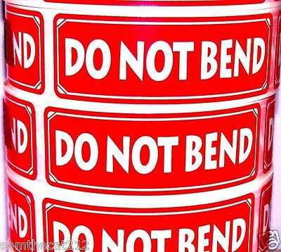 500  DO NOT BEND LABEL STICKER 1x3  A BEST SELLER