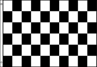 3'x5' CHECKERED BLACK AND WHITE NASCAR FLAG BANNER 3X5