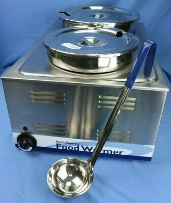 Soup, Chili, Gravy Steam Table with Pans, Ladles & Lids
