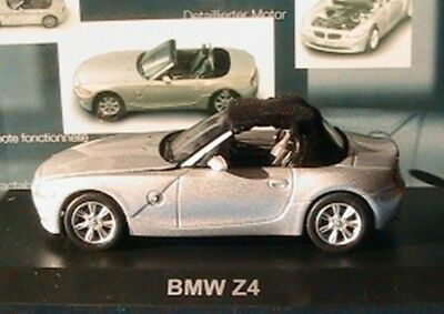 Bmw Z4 Roadster Silver Norev 350001 1/43 With Soft Top Argent Silber Cabriolet