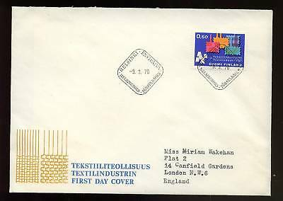 Finland 1970 Textile Industry FDC
