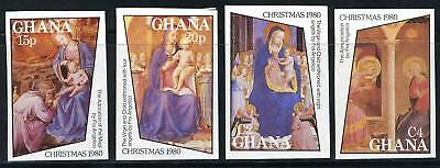 Ghana Christmas 1980  Imperforated  Mint Nh