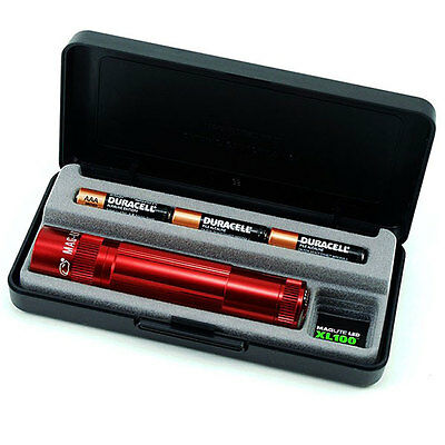 Maglite XL100 LED Flashlight New Gift Box Red S3037