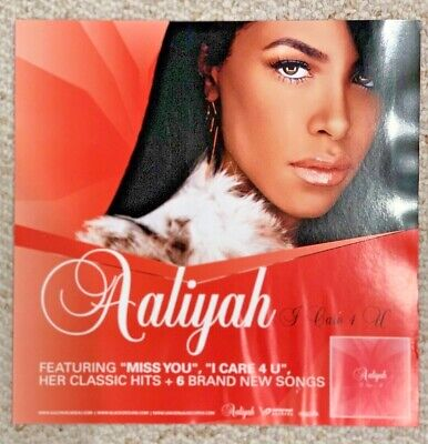 Aaliyah 2002 Promotional Poster 12x12 rare