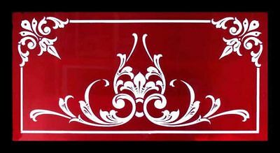 Victorian Huge Brilliant Cut Ruby Glass Antique Stained Glass Window