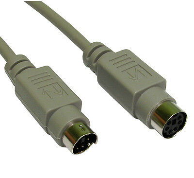 PS/2 Keyboard Mouse EXTENSION Cable Lead 6 pin PS2