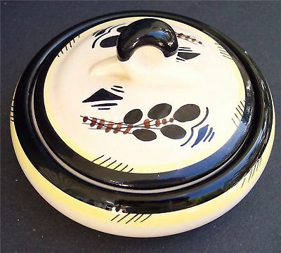 Vintage Signed Gouda Holland Deco pottery Art Dish 2 pc