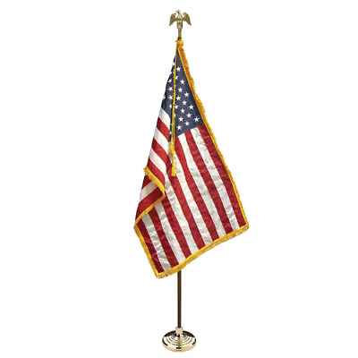7 FT Deluxe Presidential US American Indoor Flag Pole Parade Set/Kit 3x5 US Flag