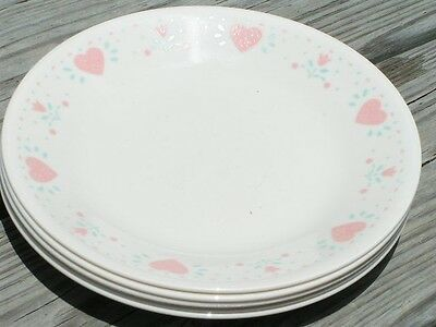 Forever Yours by Corelle Corning LOT 5 BREAD PLATES