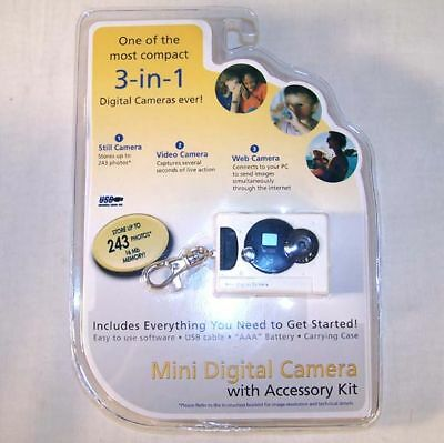MINI DIGITAL POCKET CAMERA  w CASE keychain video web small carmeras novelty new