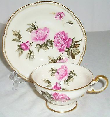 Castleton Peony Pink Coffee Cup Saucer Set S