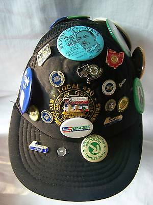 Local 420 Afscme Trade Union Historical Hat Cap Pins
