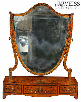 SWC-George III Painted Satinwood Mirror, c.1800