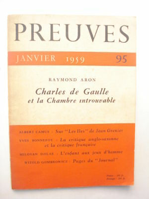 Preuves 95, 1959. Witold Gombrowicz: Pages du Journal