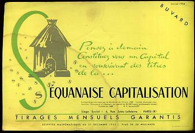 Buvard   Equanaise Capitalisation  1954  ( 65 )