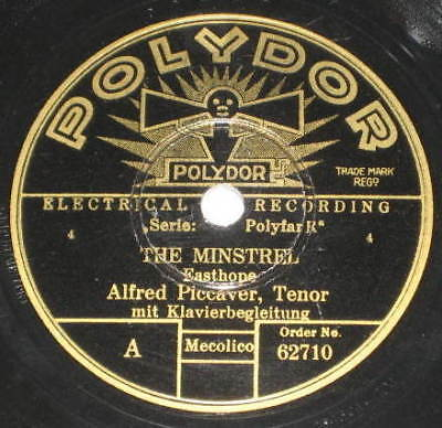 78rpm/Polydor 62710/ALFRED PICCAVER/THE MINISTREL