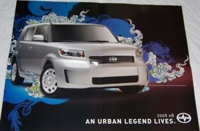 2008 08 SCION Sales brochure + 4 pag XB Poster
