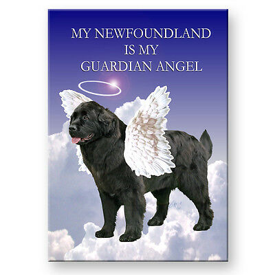 NEWFOUNDLAND Guardian Angel FRIDGE MAGNET No 2 Black Pet Loss