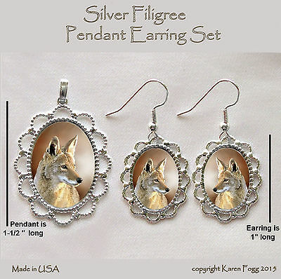 COYOTE - Filigree PENDANT EARRING Set