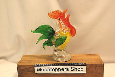 Beautiful Coloured Large Glass Cockerel Rooster Chicken Ornament - FREE P&P