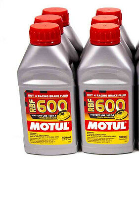 Motul Rbf 600 Racing Brake Fluid Lot (6) Case 100949  Exceeds Dot4 Synthetic