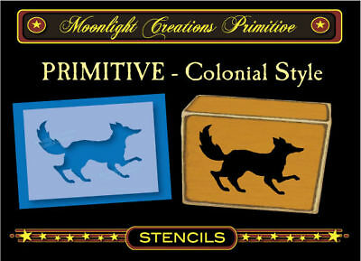 Primitive Stencil~COLONIAL FOX~Early American Classic Vintage Style 1700s