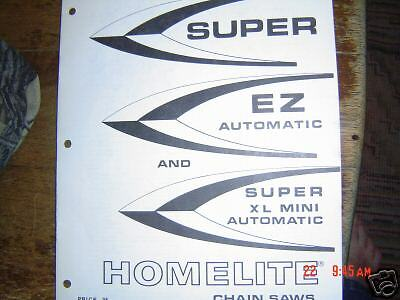 Homelite Super EZ automatic XL mini parts list