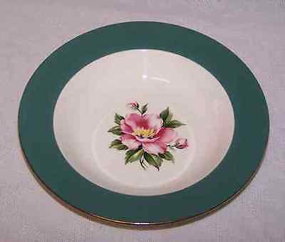 Homer Laughlin Empire Green Dishes  2 Cereal Soup Bowls
