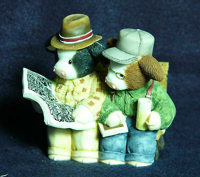 Mary's Moo Moos Old Guys On Bench-Nothing New-NIB-2001