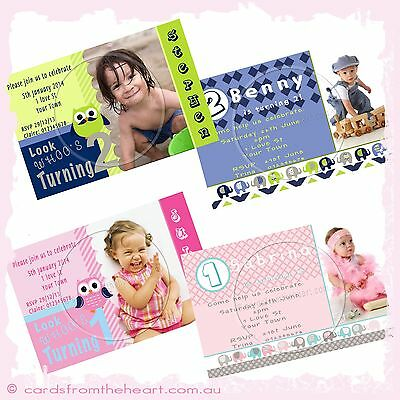 Christening Photo Invitation Baptism Naming Day BABY Boy Girl Twins Ceremony