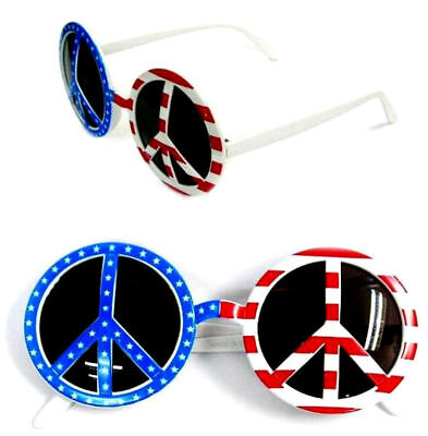 AMERICAN PEACE PARTY GLASSES hippie sunglasses costume