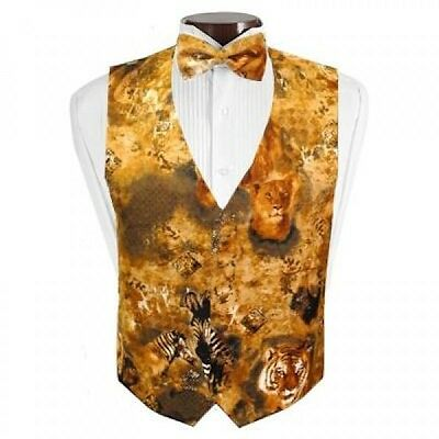 Lions, Tigers, and Zebras Tuxedo Vest and Bowtie