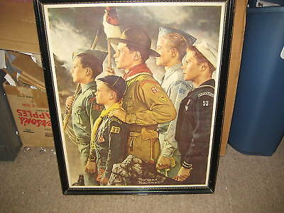 Norman Rockwell Forward America Framed Print older kp