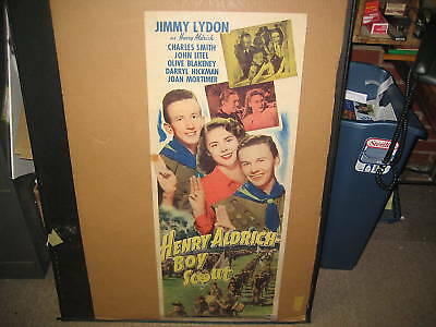 Henry Aldrich Boy Scout movie poster, 14 by 36   kp