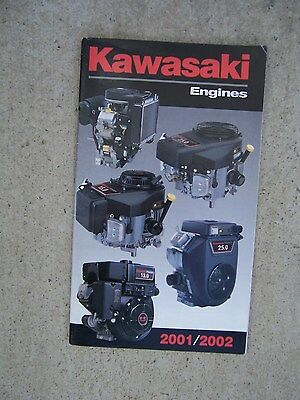 2001 2002 Kawasaki Engine Catalog Air Liquid Cooled A