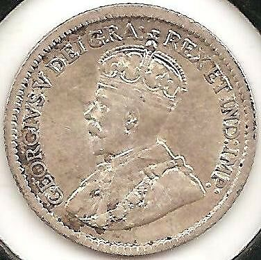 1916 XF-AU Canadian Five Cents Silver