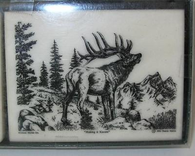 "Montana Marble Elk ""Making It Known"" 4 X 3"