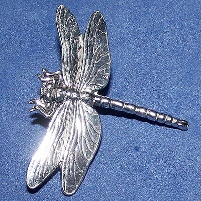 Pewter Insect Dragon Fly Brooch Pin
