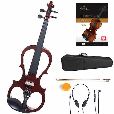Cecilio Size 4/4 Electric Violin Ebony Fitted ~Red Style1