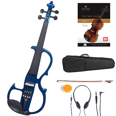 Cecilio Size 4/4 Electric Violin Ebony Fitted ~Blue Style2