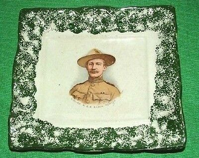c1900 Sunderland Boy Scout Baden Powell Pottery Plaque