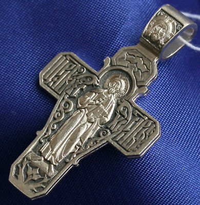 RUSSIAN ORTHODOX ICON CRUCIFIX, SILVER 925. NEW COLLECTION. PRAYER CROSS. NEW